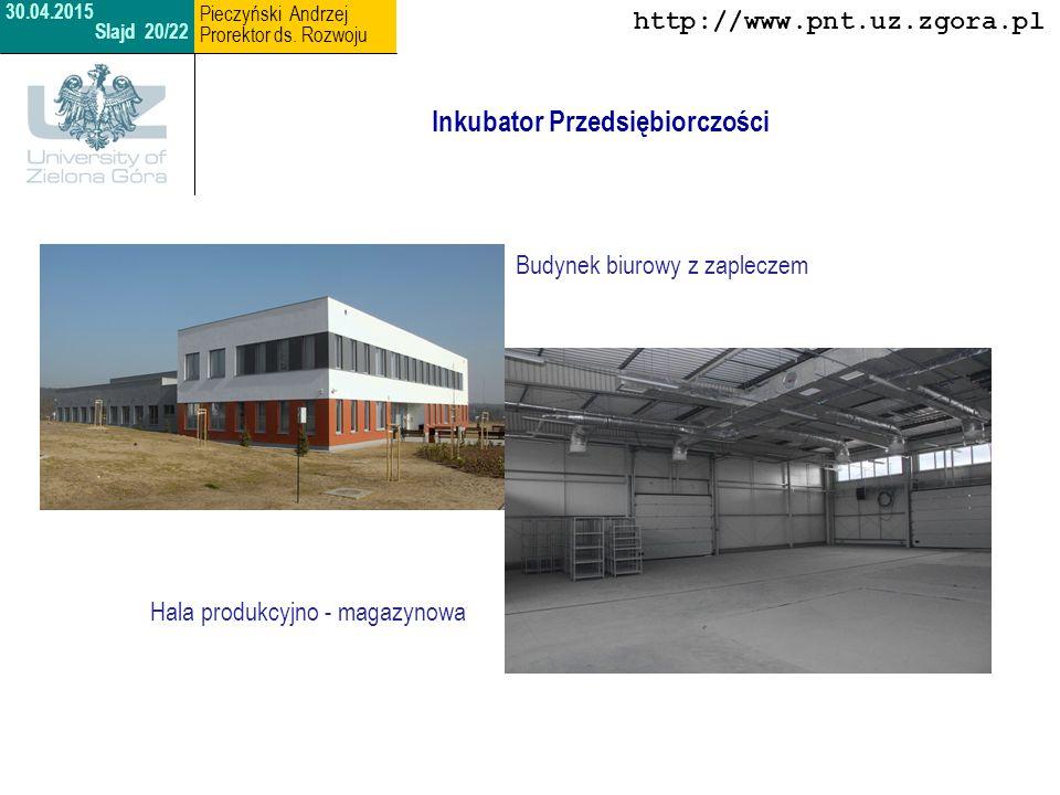 Park Naukowo - Technologiczny Inny obszar i formy współpracy Uniwersytetu Zielonogórskiego i PNT Sp.
