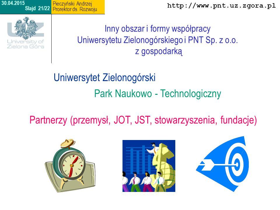 http://www.uz.zgora.pl Dziękuję za uwagę 30.04.2015 Slajd 22/22 Pieczyński Andrzej Prorektor ds.