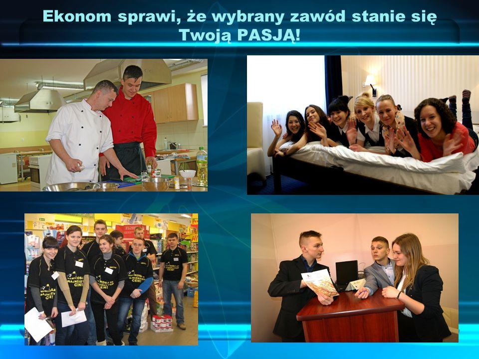 Szkoła promuje kształcenie zawodowe poprzez imprezy, takie jak pasowanie na kucharza: I TŻ i UG, wrzesień 2014r.