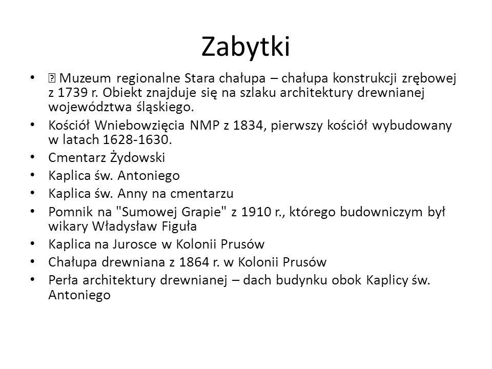 Zabytki  Muzeum regionalne Stara chałupa – chałupa konstrukcji zrębowej z 1739 r.