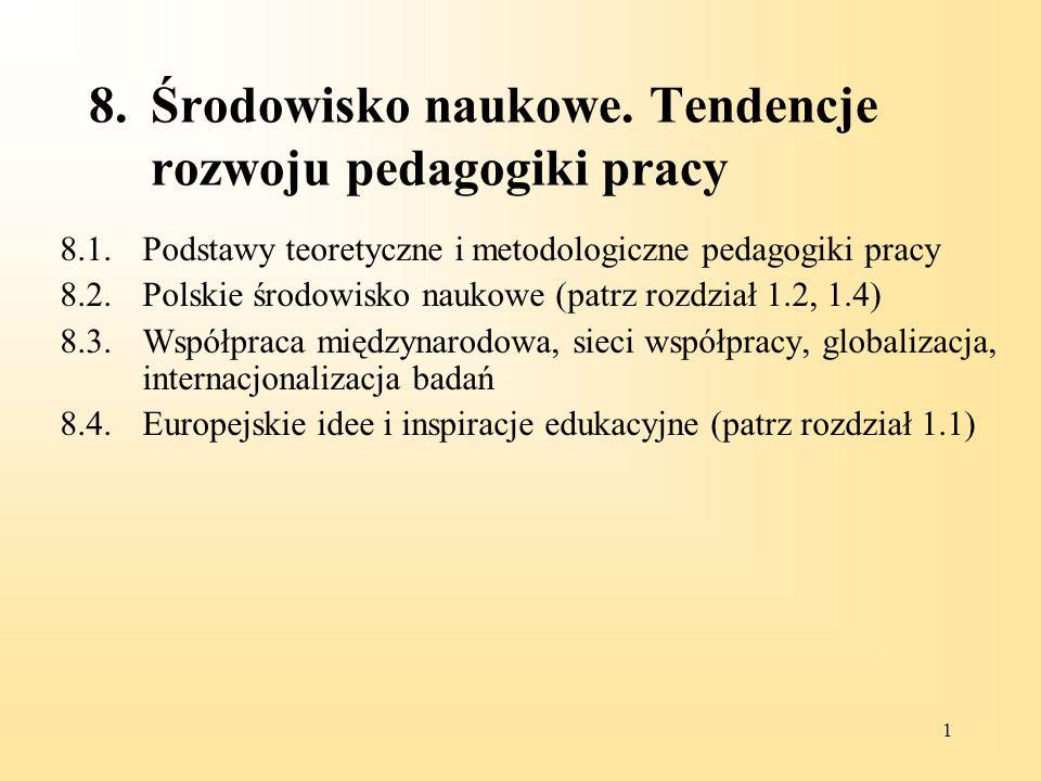 11 PEDAGOGIKA PRACY W POLSCE RYS HISTORYCZNY – 1972 Rada Naukowa Instytutu Kształcenia Zawodowego prof.