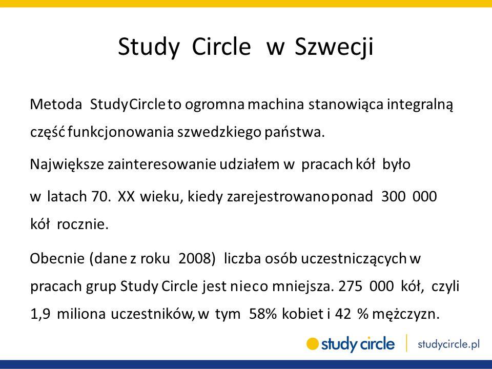 Study Circle w Szwecji Metoda Study Circle to ogromna machina stanowiąca integralną część funkcjonowania szwedzkiego państwa. Największe zainteresowan