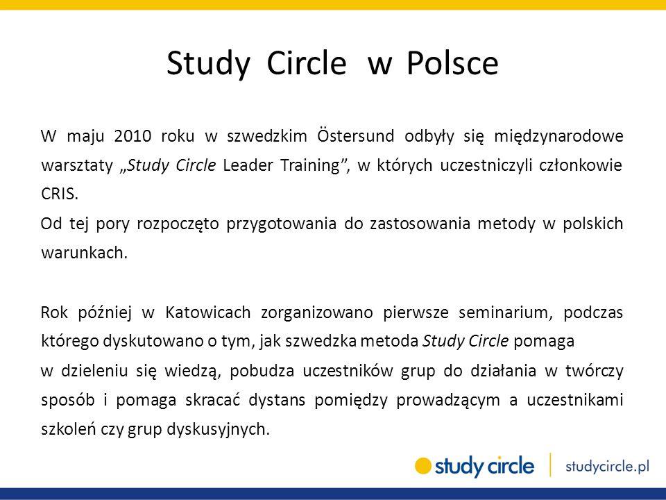 """Study Circle w Polsce W maju 2010 roku w szwedzkim Östersund odbyły się międzynarodowe warsztaty """"Study Circle Leader Training"""", w których uczestniczy"""