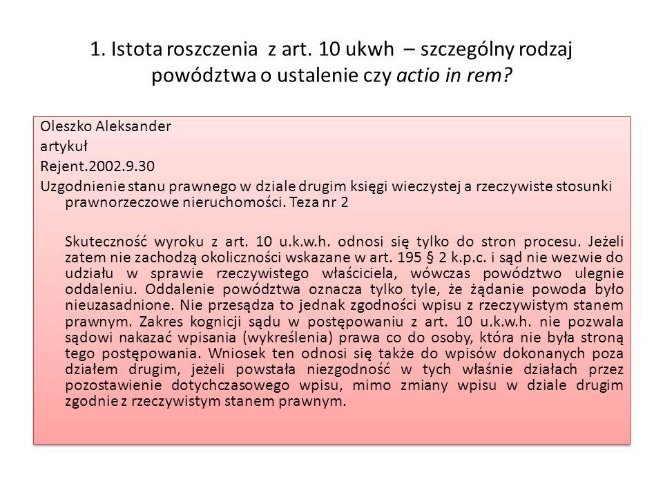 5.Skutki prawnorzeczowe wytoczenia powództwa z art.