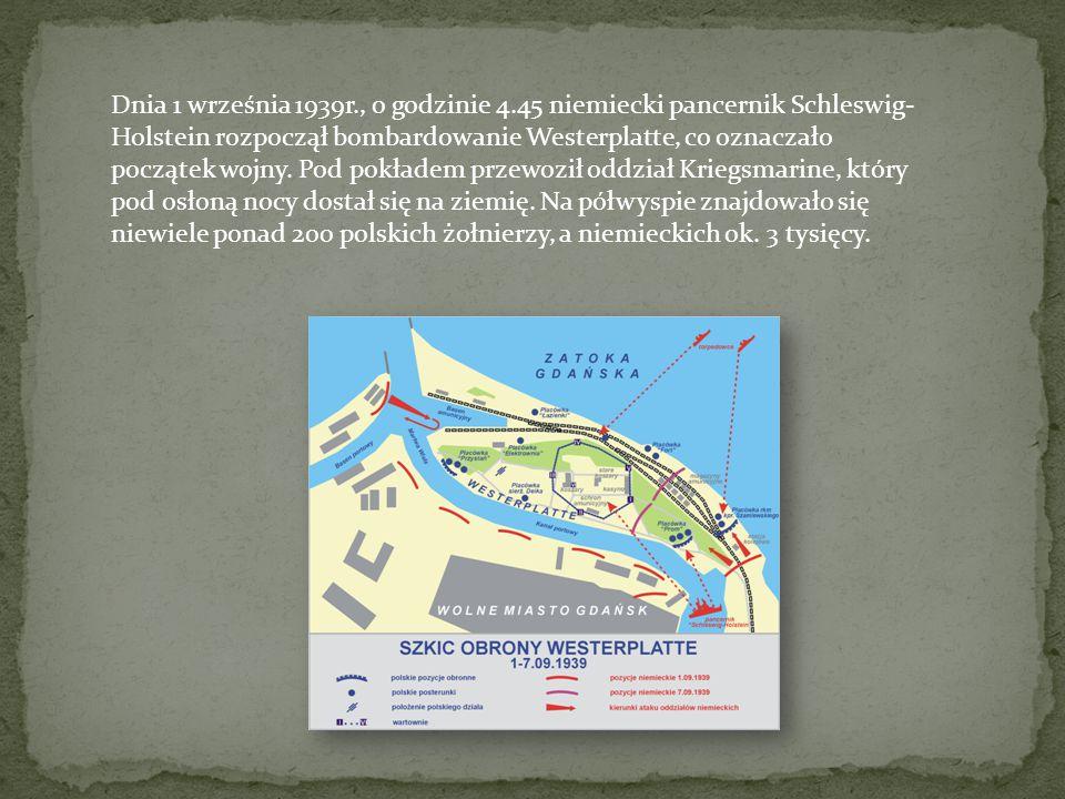 Załoga Westerplatte dzielnie się broniła.