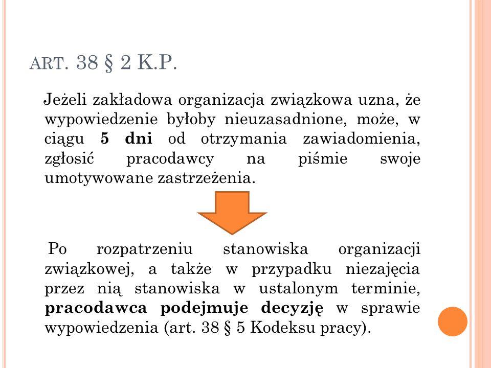 ART.38 § 2 K.P.