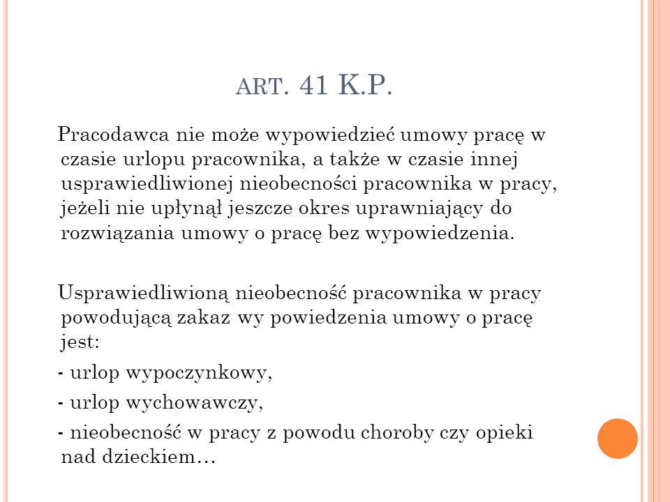ART.41 K.P.