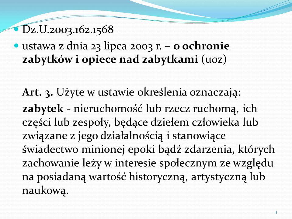 4 Dz.U.2003.162.1568 ustawa z dnia 23 lipca 2003 r.