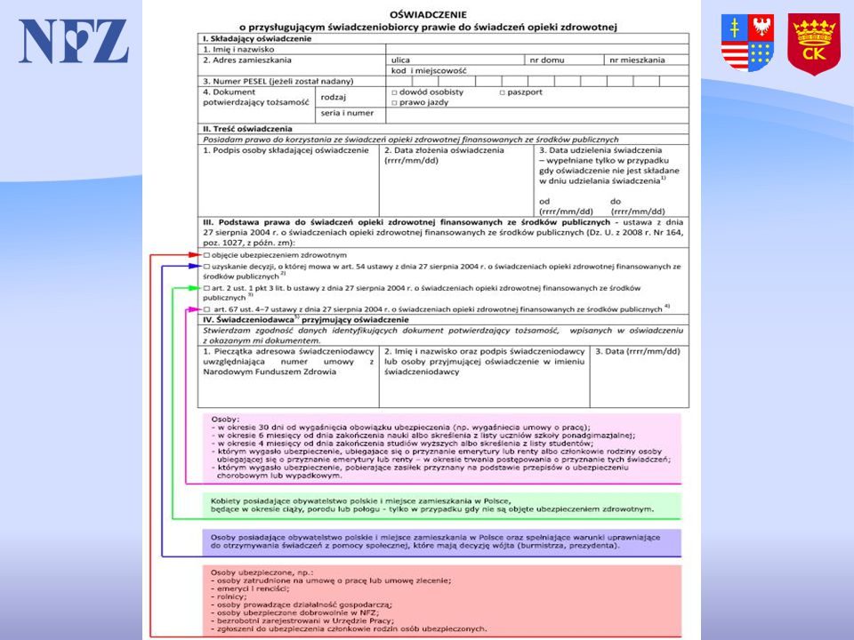 Odmowa udzielenia świadczenia gdy eWUŚ nie potwierdza uprawnień pacjenta.