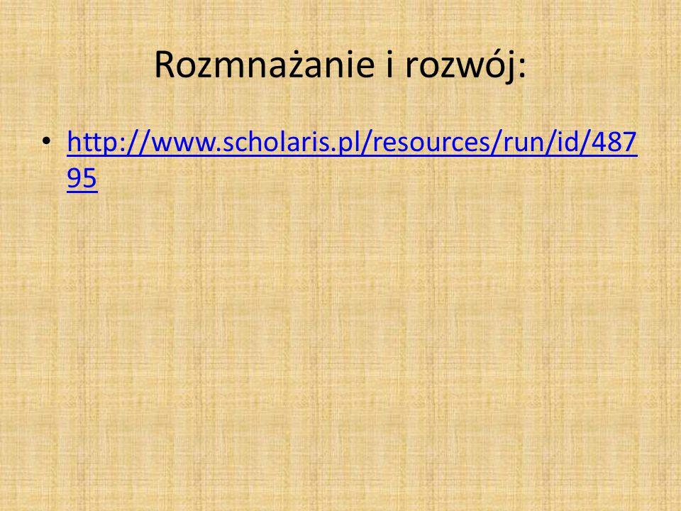 Rozmnażanie i rozwój: http://www.scholaris.pl/resources/run/id/487 95 http://www.scholaris.pl/resources/run/id/487 95