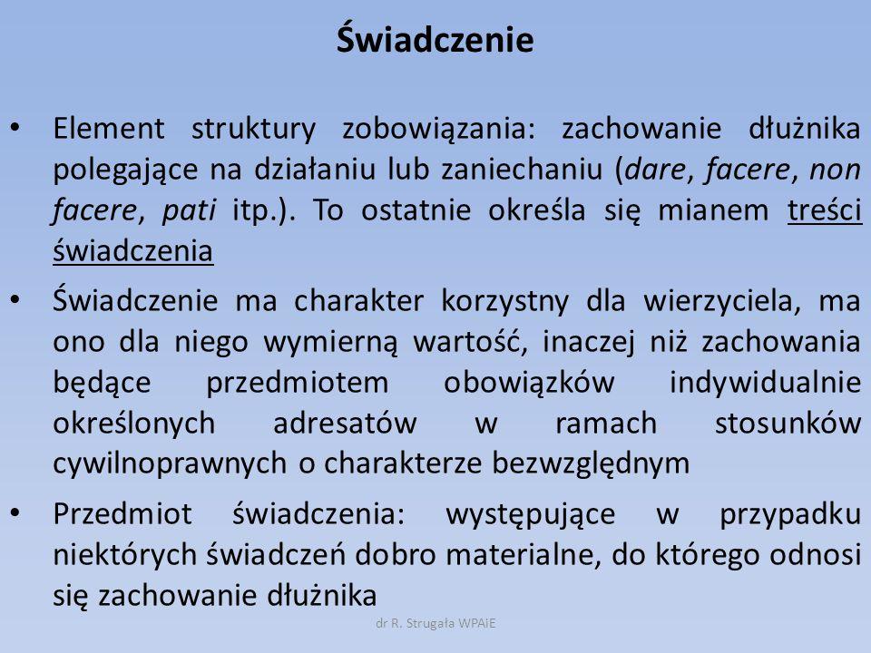 I.Świadczenie jednorazowe, okresowe i ciągłe II.