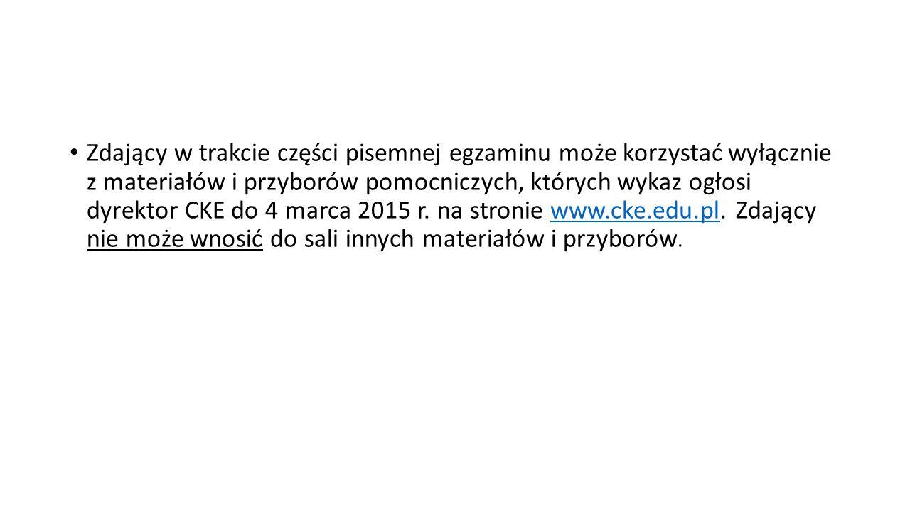 Część ustna egzaminu maturalnego z języka polskiego – przebieg egzaminu Zdający, po okazaniu dokumentu stwierdzającego tożsamość, wchodzi do sali egzaminacyjnej wg kolejności ustalonej na liście / w harmonogramie.