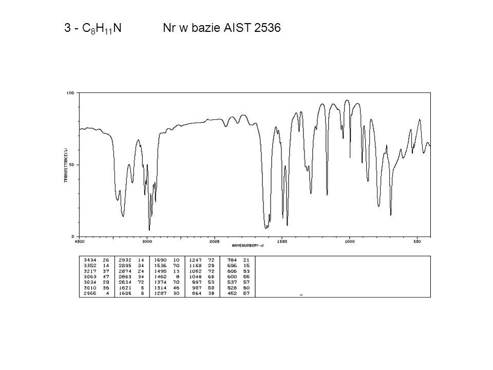 3 - C 8 H 11 N Nr w bazie AIST 2536