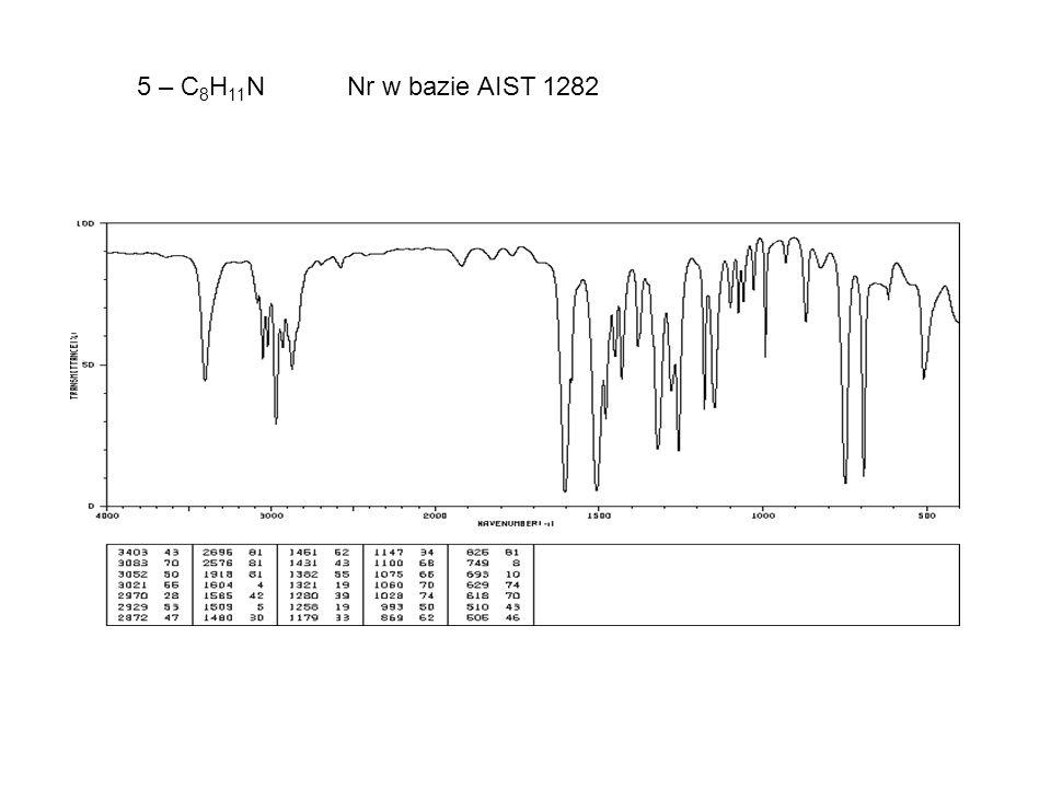 5 – C 8 H 11 N Nr w bazie AIST 1282