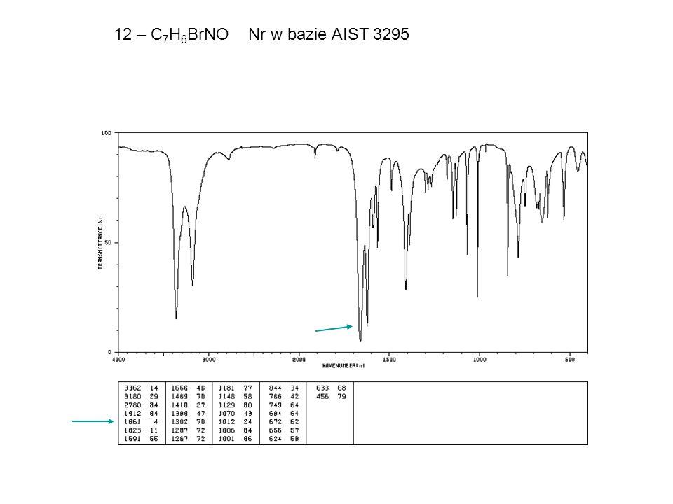 12 – C 7 H 6 BrNONr w bazie AIST 3295