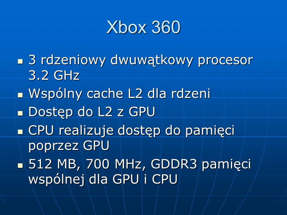 3 rdzeniowy dwuwątkowy procesor 3.2 GHz 3 rdzeniowy dwuwątkowy procesor 3.2 GHz Wspólny cache L2 dla rdzeni Wspólny cache L2 dla rdzeni Dostęp do L2 z