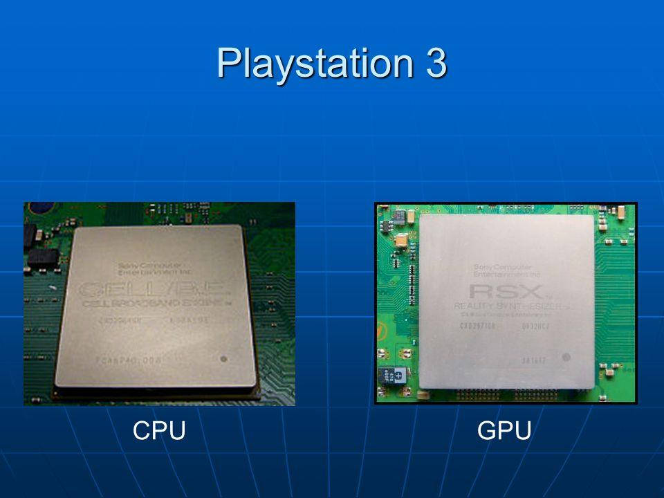 Architektura zestawienie Platforma PlatformaParametr XBOX 360 PS3 CPU 3 dwuwątkowe rdzenie 7 jednowątkowyc h rdzeni GPU ATI Xenos 512 MB GDDR3 dzielone z CPU NVIDIA RSX dedykowane 256 MB GDDR3 RAM 512 MB GDDR3 RAM dzielone z GPU 256 MB XDR RAM