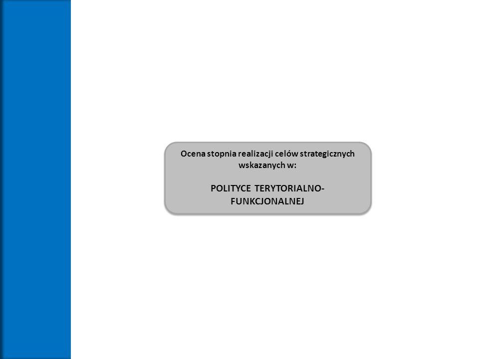 Ocena stopnia realizacji celów strategicznych wskazanych w: POLITYCE TERYTORIALNO- FUNKCJONALNEJ Ocena stopnia realizacji celów strategicznych wskazan