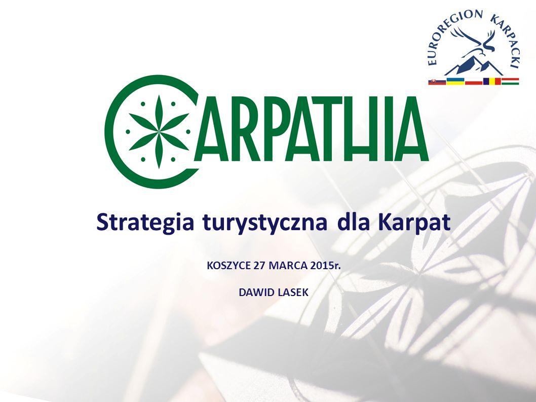 Strategia turystyczna dla Karpat KOSZYCE 27 MARCA 2015r. DAWID LASEK