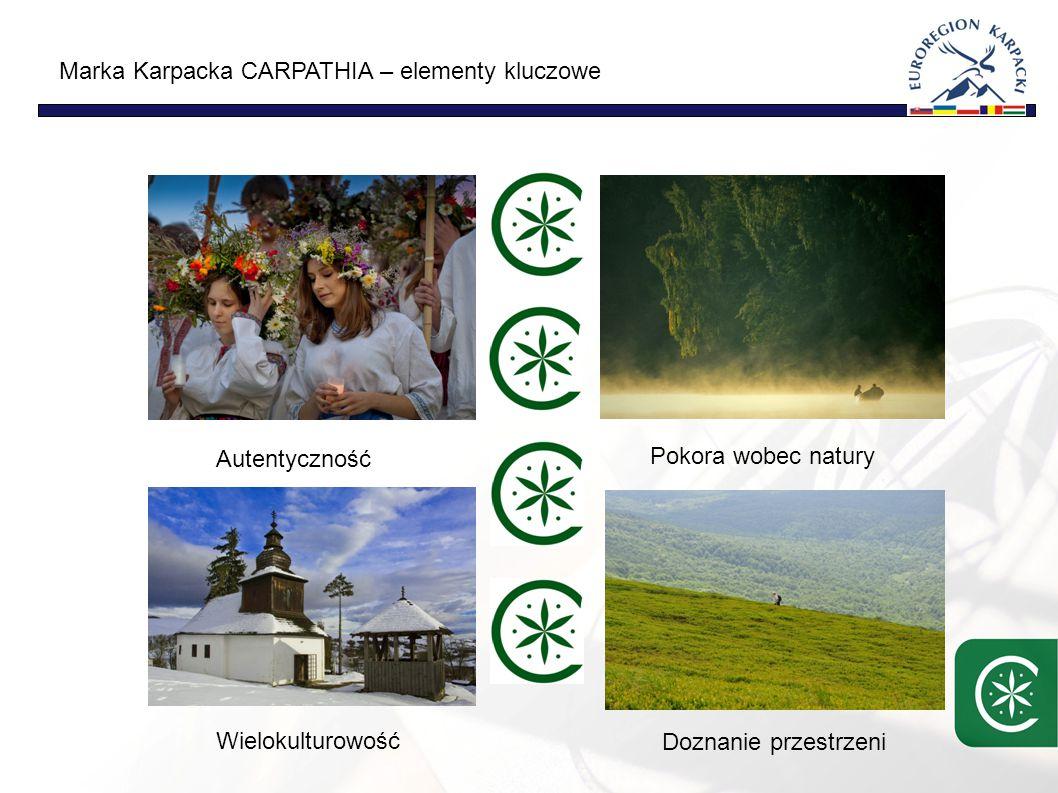Marka Karpacka CARPATHIA – elementy kluczowe Autentyczność Pokora wobec natury Wielokulturowość Doznanie przestrzeni