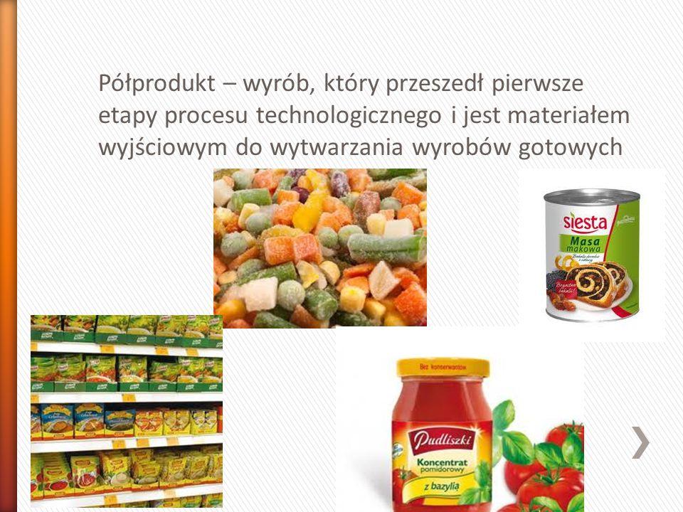 Wyrób gotowy (produkt) – środki spożywcze przeznaczone do bezpośredniej konsumpcji