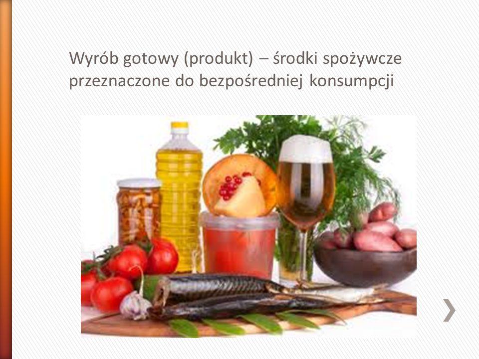 Potrawa – wyrób kulinarny przeznaczony do bezpośredniej konsumpcji np.