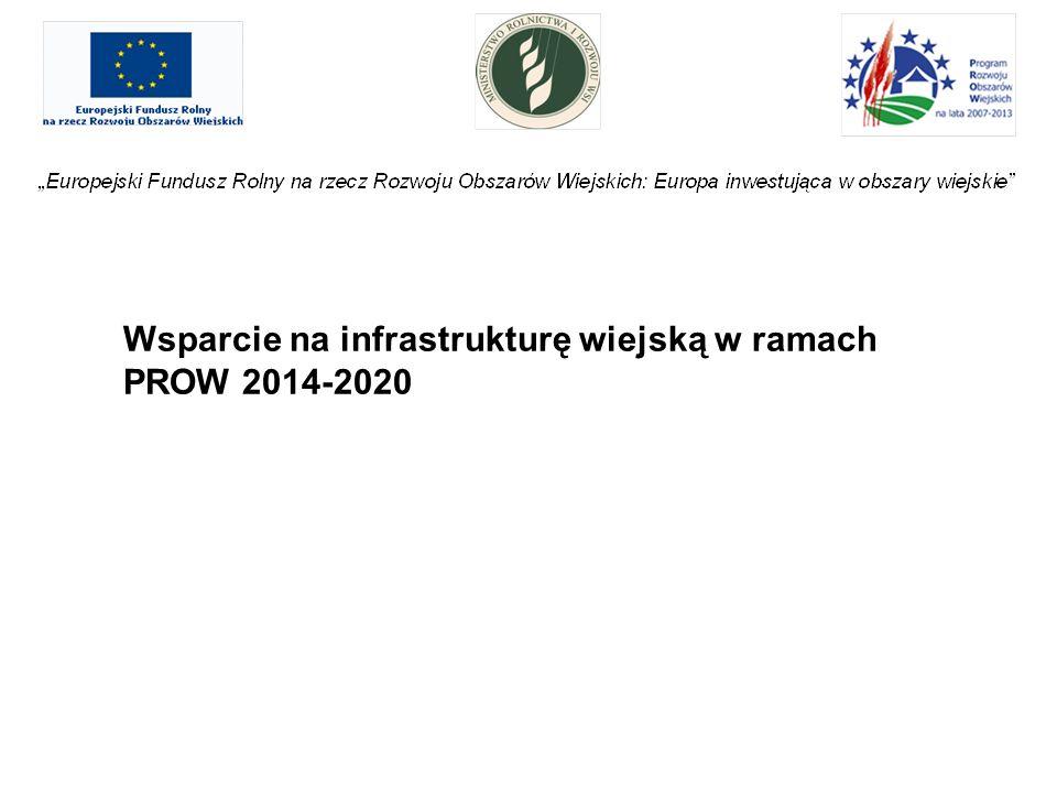 Wsparcie na infrastrukturę wiejską w ramach PROW 2014-2020