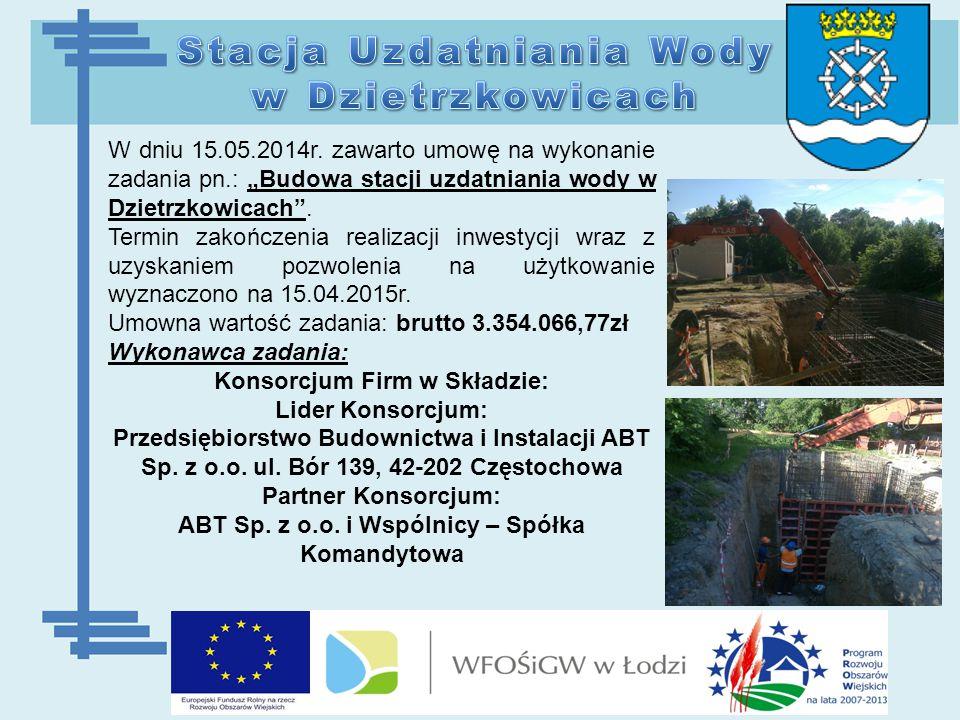 Zadanie realizowano w dwóch etapach:  I etap od 15.05.2014 r.