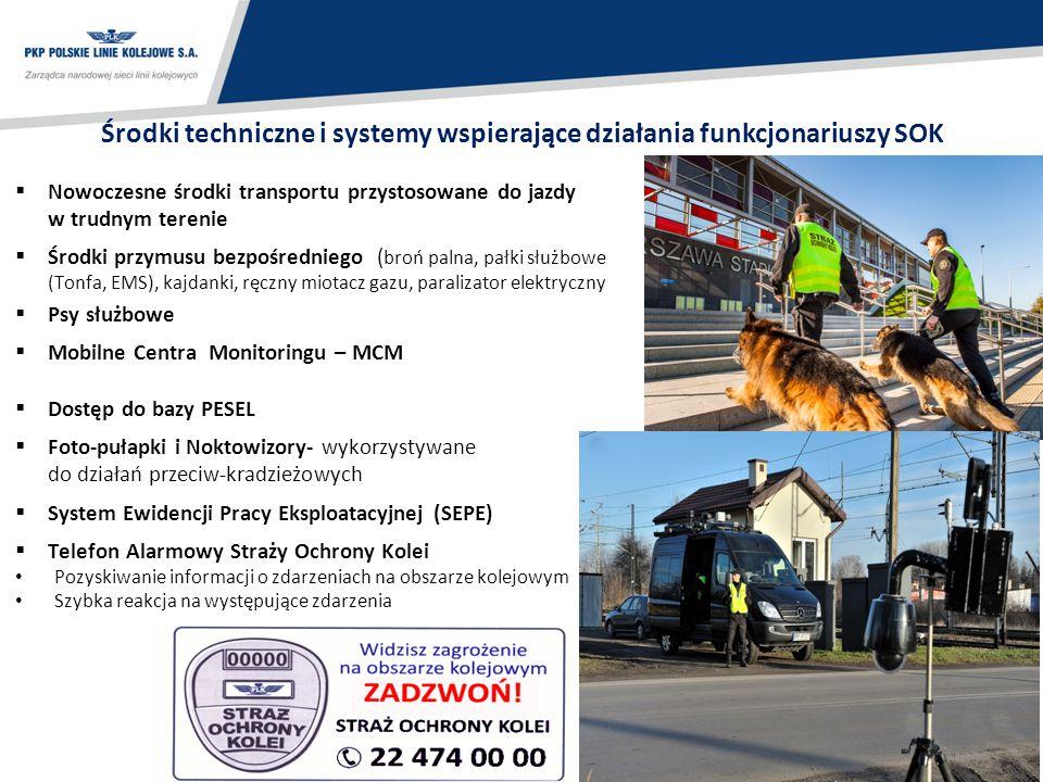 15 Środki techniczne i systemy wspierające działania funkcjonariuszy SOK  Nowoczesne środki transportu przystosowane do jazdy w trudnym terenie  Śro
