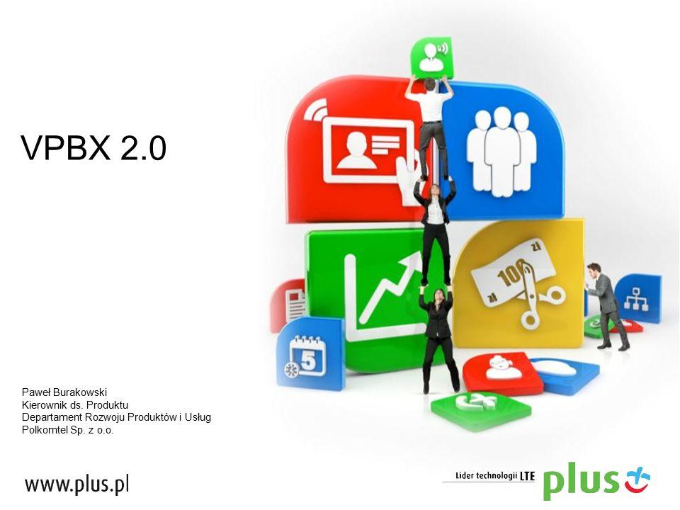 VPBX 2.0 Paweł Burakowski Kierownik ds. Produktu Departament Rozwoju Produktów i Usług Polkomtel Sp. z o.o.