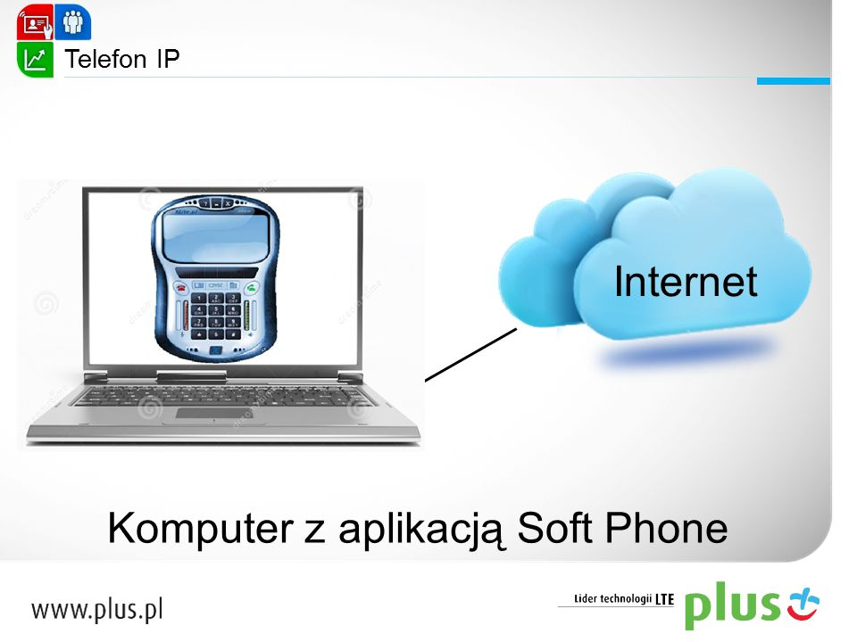 Internet Komputer z aplikacją Soft Phone Telefon IP