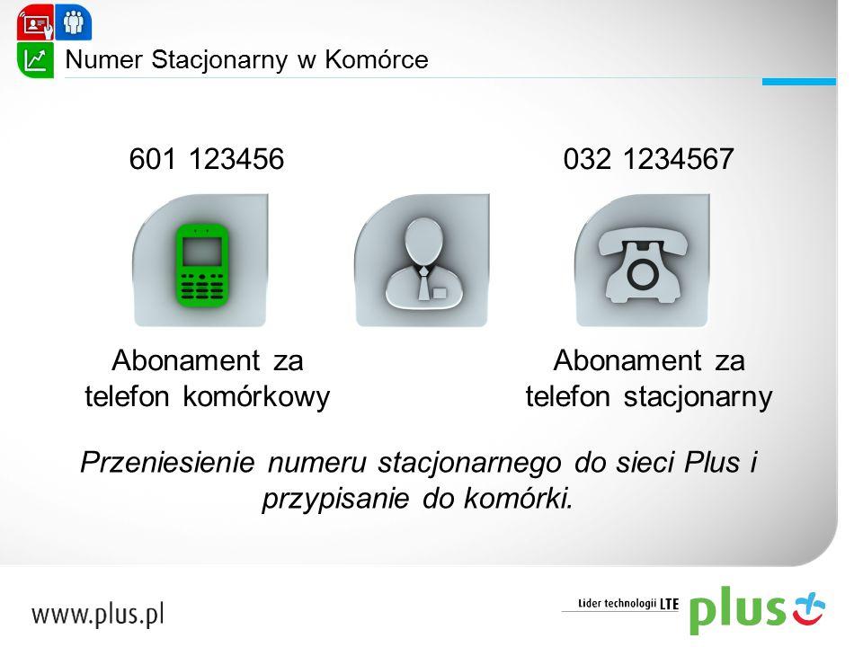Numer Stacjonarny w Komórce Abonament za telefon komórkowy Abonament za telefon stacjonarny 601 123456032 1234567 Przeniesienie numeru stacjonarnego d