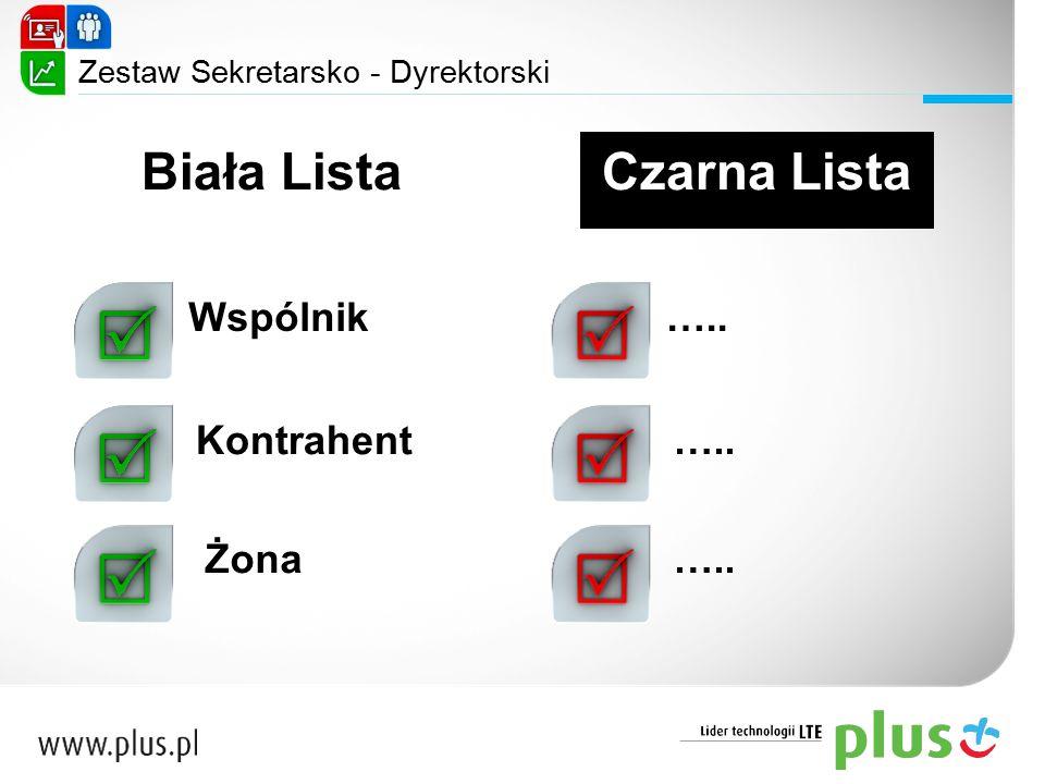 Zestaw Sekretarsko - Dyrektorski Czarna ListaBiała Lista Wspólnik Kontrahent Żona …..
