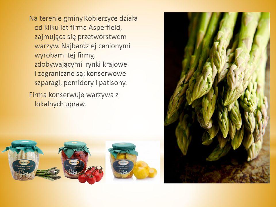 Na terenie gminy Kobierzyce działa od kilku lat firma Asperfield, zajmująca się przetwórstwem warzyw.