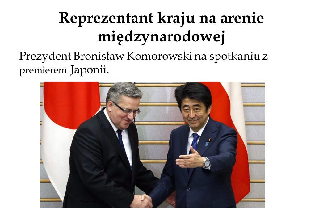 Reprezentant kraju na arenie międzynarodowej Prezydent Bronisław Komorowski na spotkaniu z premierem Japonii.