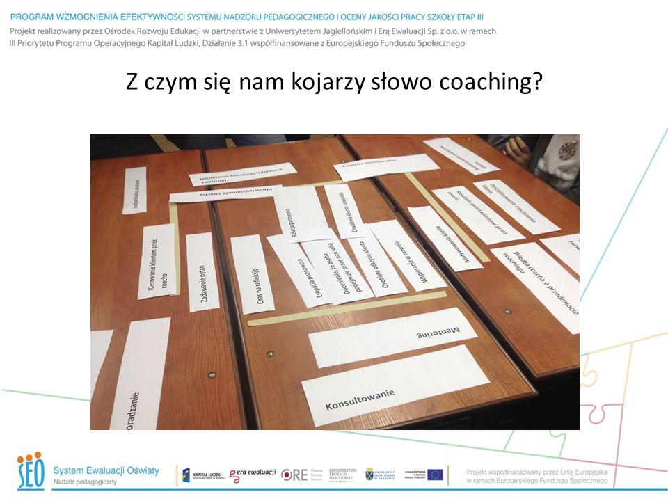 Z czym się nam kojarzy słowo coaching?