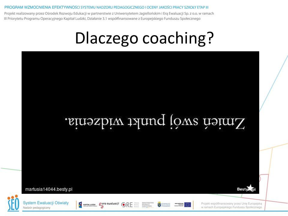 Dlaczego coaching?
