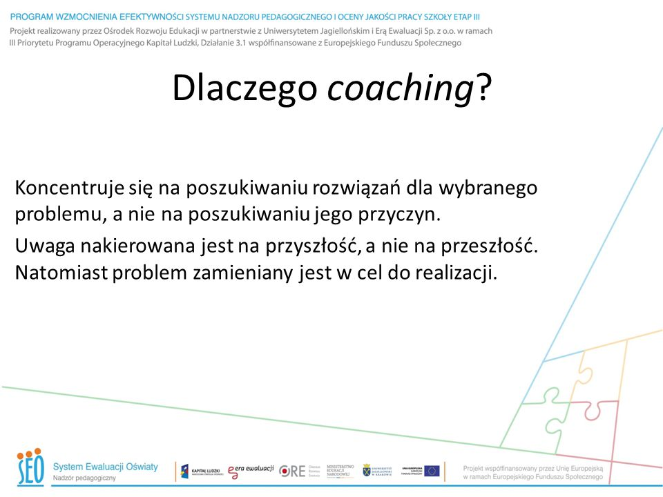 Coaching dobrze robi współpracy