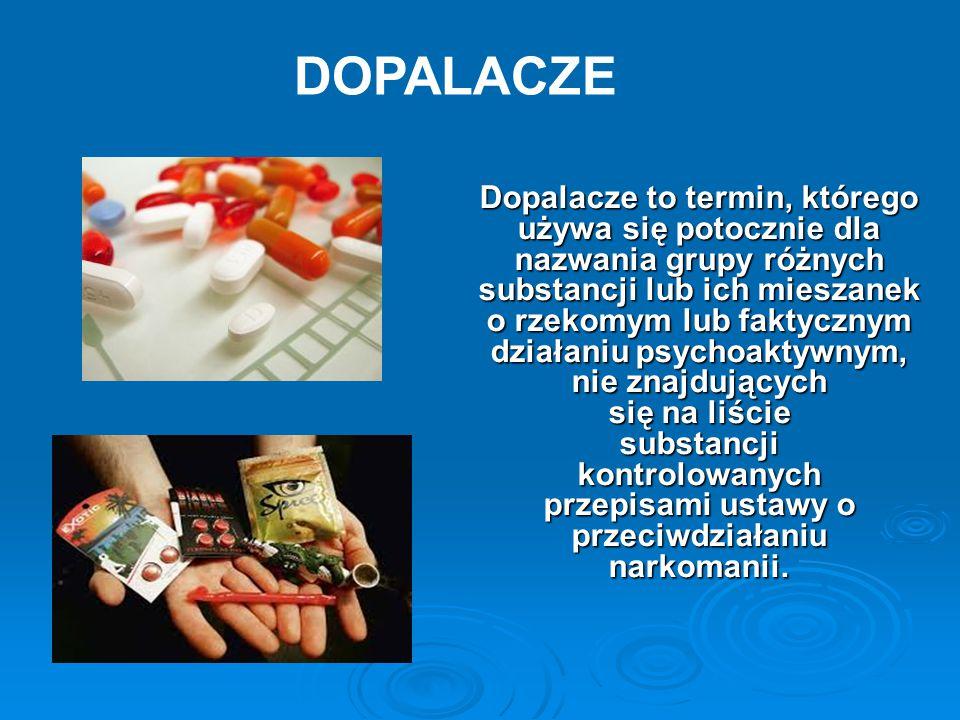 Dopalacze to termin, którego używa się potocznie dla nazwania grupy różnych substancji lub ich mieszanek o rzekomym lub faktycznym działaniu psychoakt