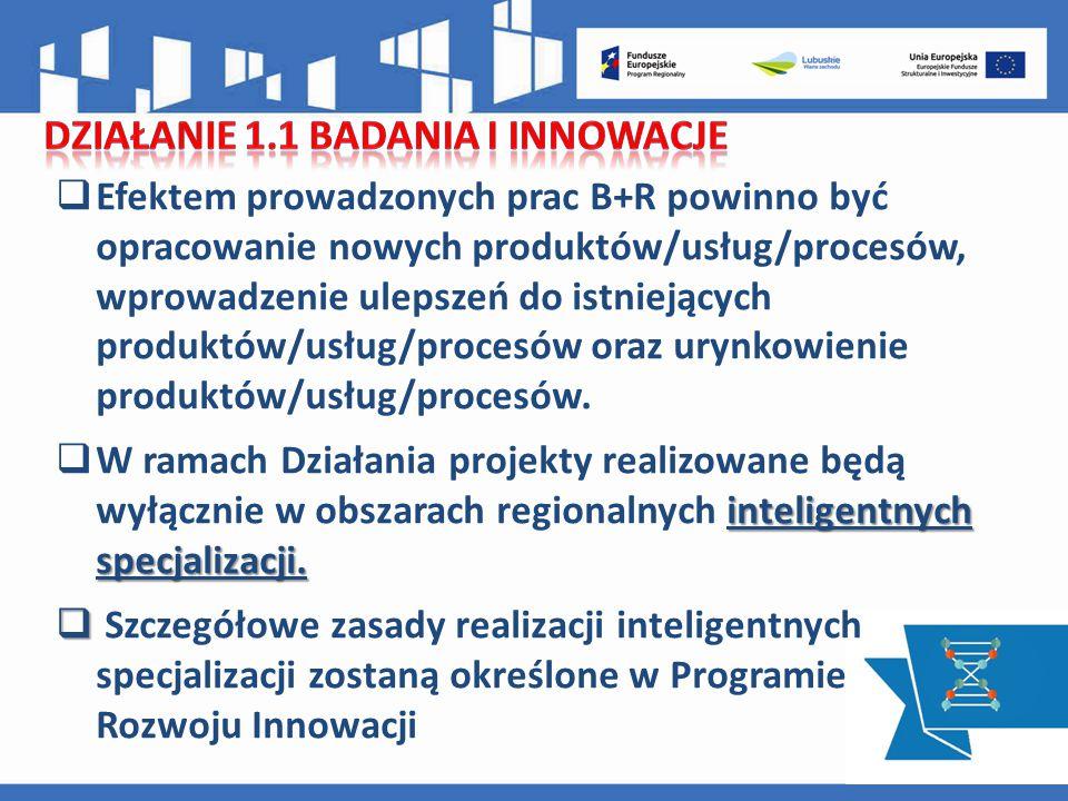  Efektem prowadzonych prac B+R powinno być opracowanie nowych produktów/usług/procesów, wprowadzenie ulepszeń do istniejących produktów/usług/procesów oraz urynkowienie produktów/usług/procesów.