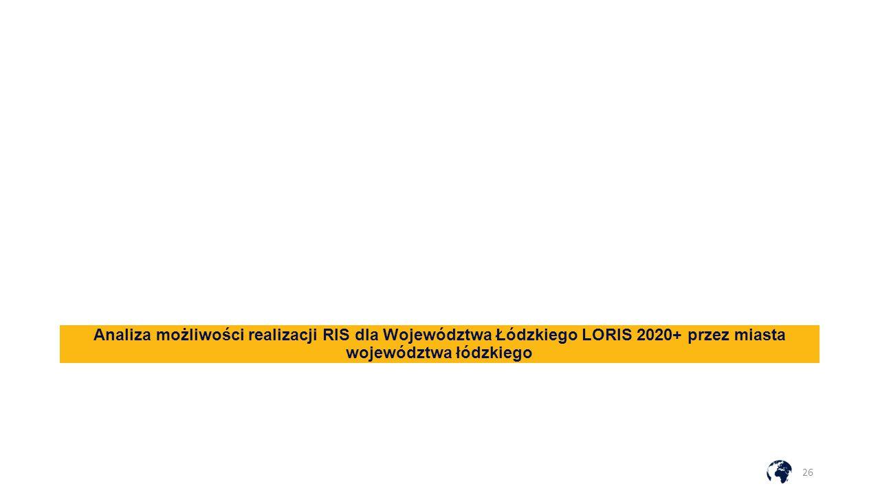 Analiza możliwości realizacji RIS dla Województwa Łódzkiego LORIS 2020+ przez miasta województwa łódzkiego 26