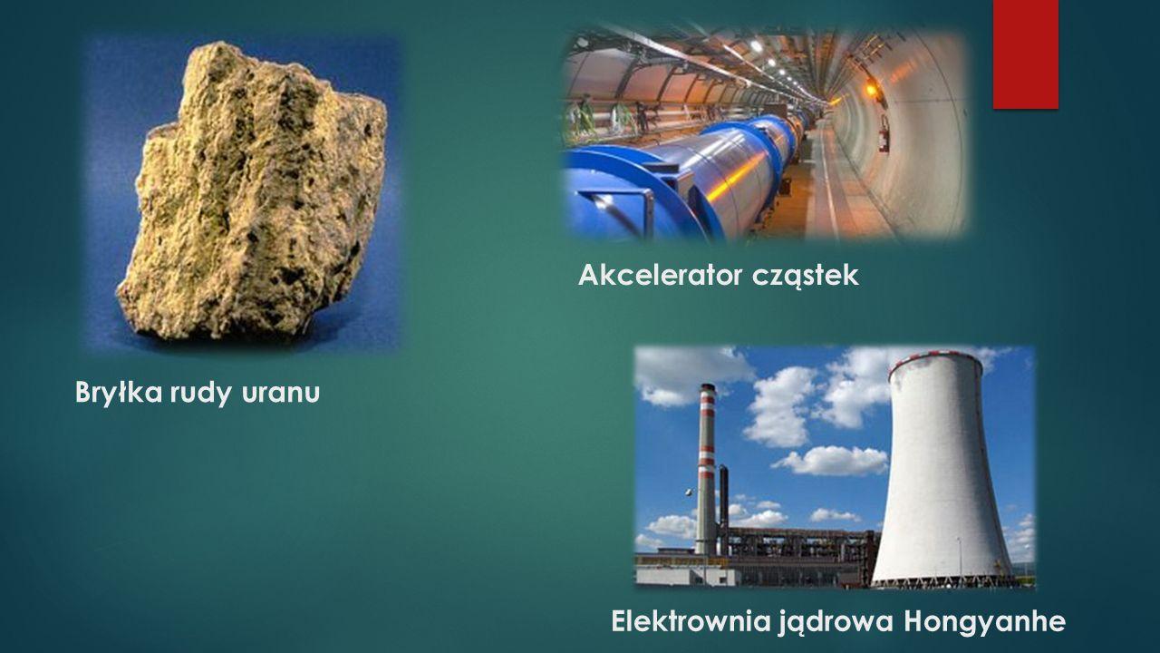 Bryłka rudy uranu Akcelerator cząstek Elektrownia jądrowa Hongyanhe