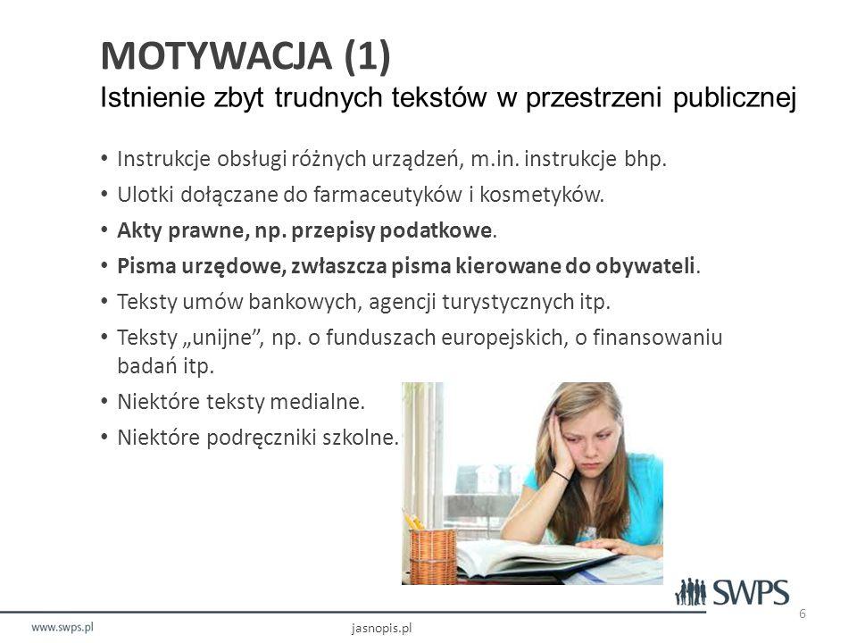 Jak posługiwać się Jasnopisem? Wprowadzanie tekstu i wybór konfiguracji jasnopis.pl 17