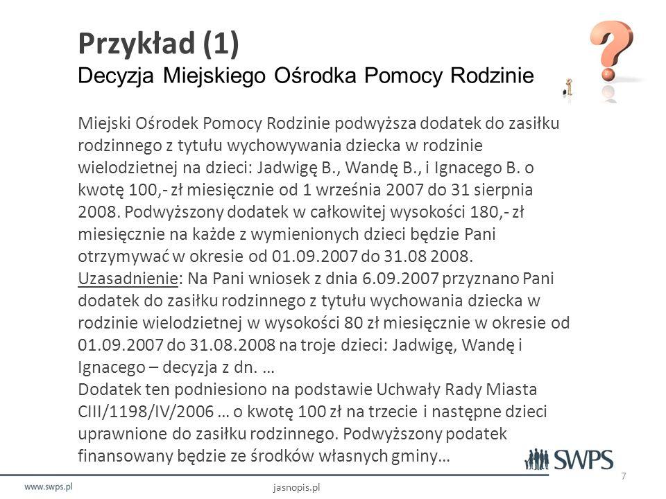 Jak posługiwać się Jasnopisem? Podstawowy wynik dla tekstu o wskazanym URL jasnopis.pl 18
