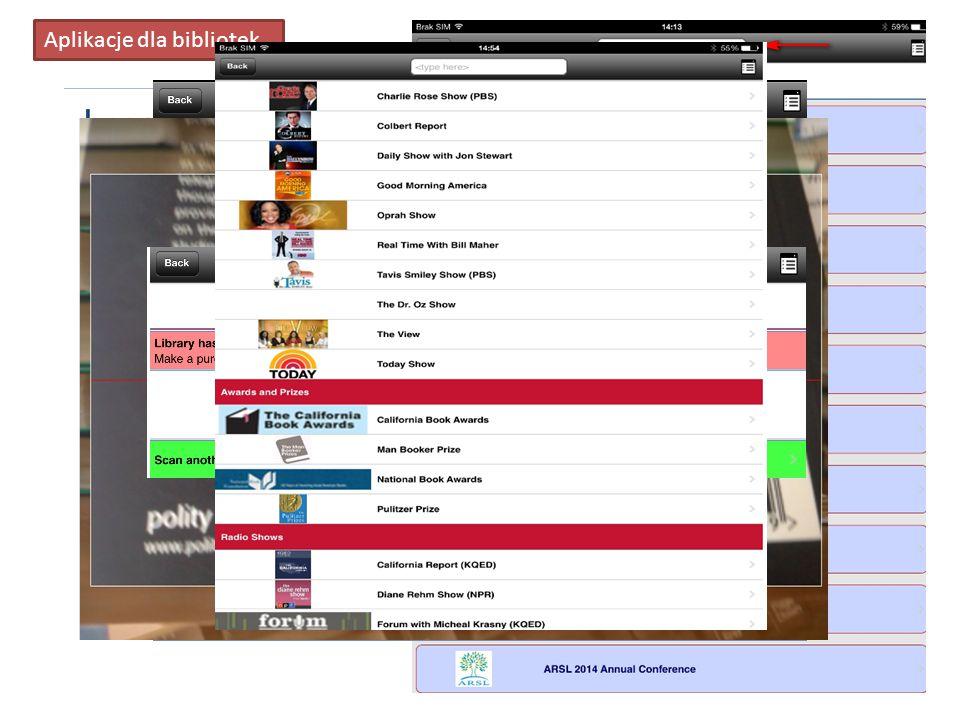 Aplikacje dla bibliotek