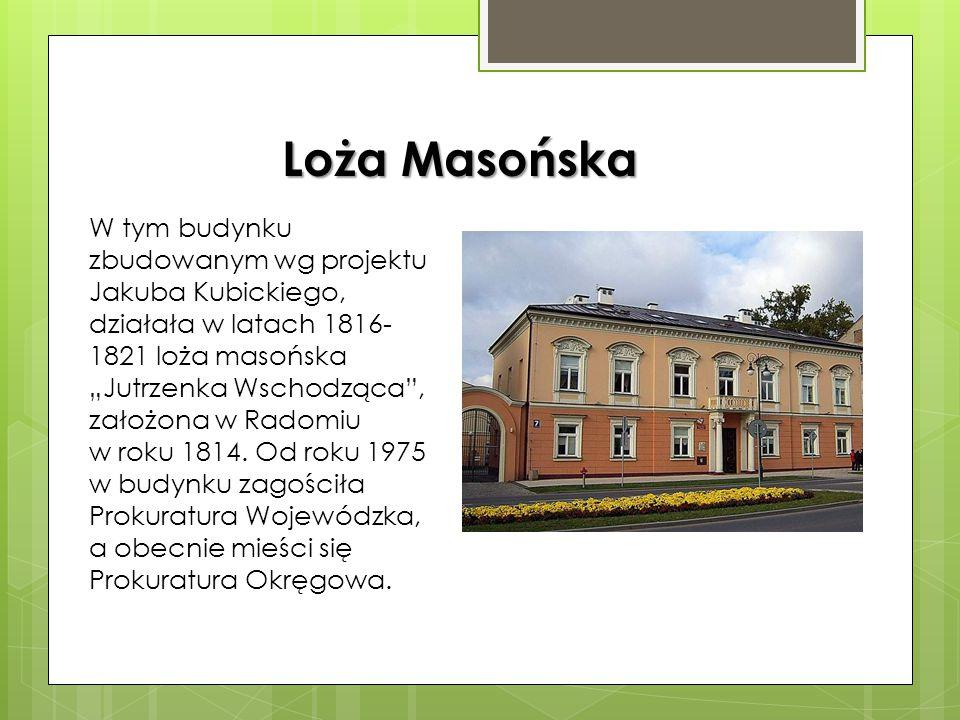 Wybudowany w 1825-1827 jako siedziba władz utworzonego w 1816 województwa sandomierskiego ze stolicą w Radomiu. Zaprojektowany przez Antonio Corazzieg