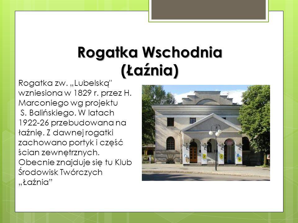 Rogatka Warszawska Rogatka warszawska wzniesiona została w pierwszej połowie XIX wieku około 1825 roku. Została wybudowana według projektu Henryka Mar