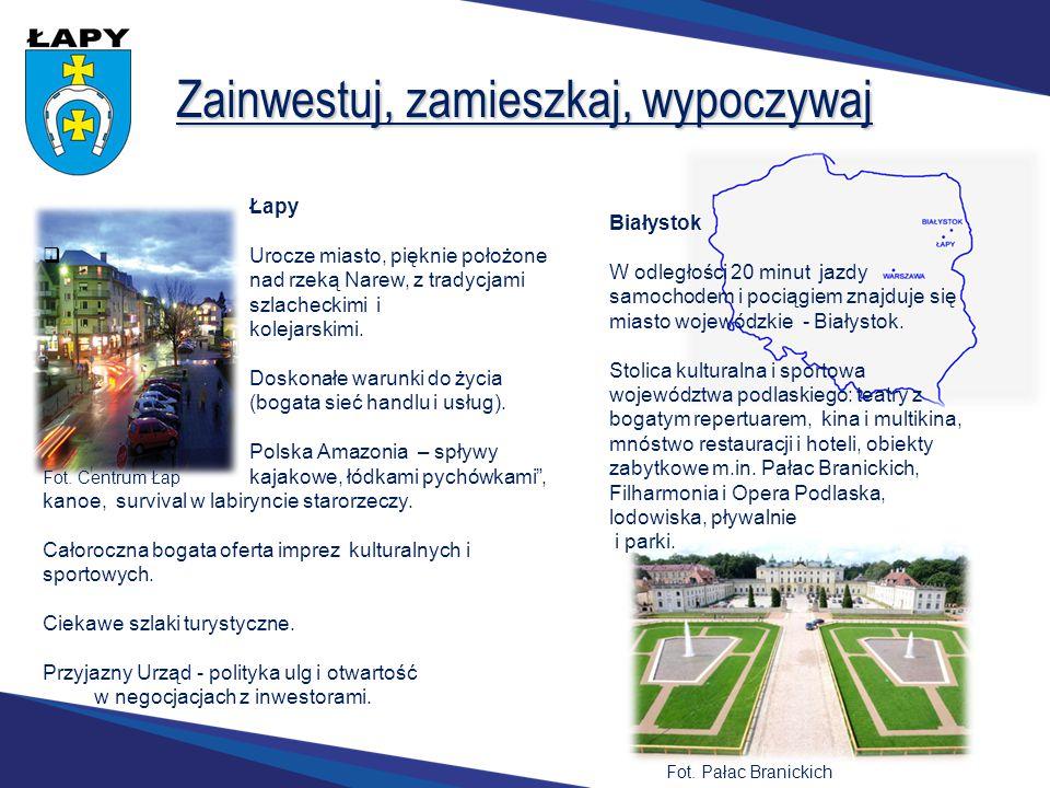 Zainwestuj, zamieszkaj, wypoczywaj Łapy  Urocze miasto, pięknie położone nad rzeką Narew, z tradycjami szlacheckimi i kolejarskimi.. Doskonałe warunk
