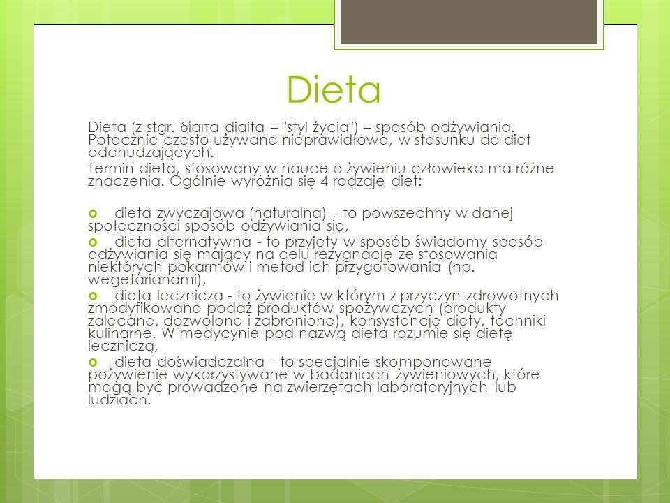 Dieta Dieta (z stgr. δίαιτα diaita –