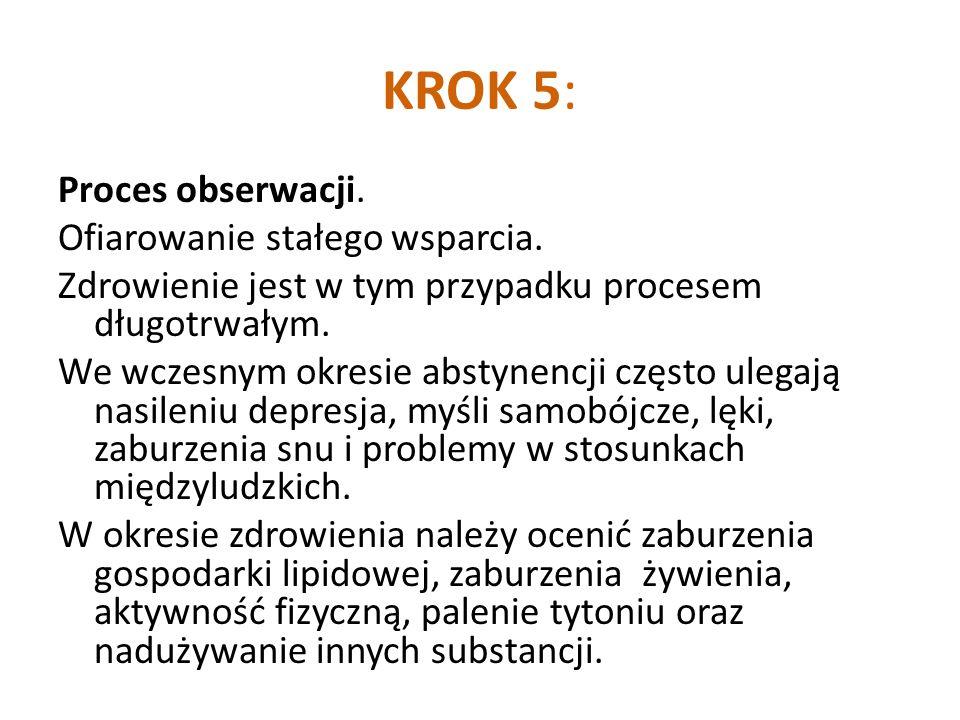 KROK 5: Proces obserwacji.Ofiarowanie stałego wsparcia.